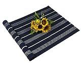 Famibay Area Teppich, gewebt, waschbar, Baumwolle, für Badezimmer, 60 x 120 cm, Mehrfarbig, Baumwolle, 03-deep Blue, 60x130