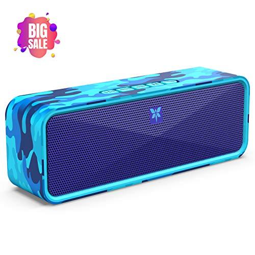 Bluetooth Lautsprecher Tragbarer 5.0 Axloie Kabelloser Lautsprecher Stereo Sound mit eingebautem Mikrofon USB-Anschluss/TF-Karte/Aux 12 Stunden Spielzeit für iPhone, Samsung usw.