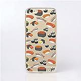 Inonler custodia Morbido sushi e sashimi carino trasparente(iPhone 5/5S/SE,Multicolore)