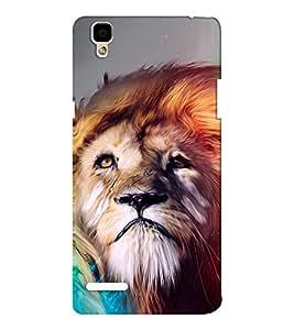 EPICCASE Brisk Lion Mobile Back Case Cover For Oppo F1 (Designer Case)