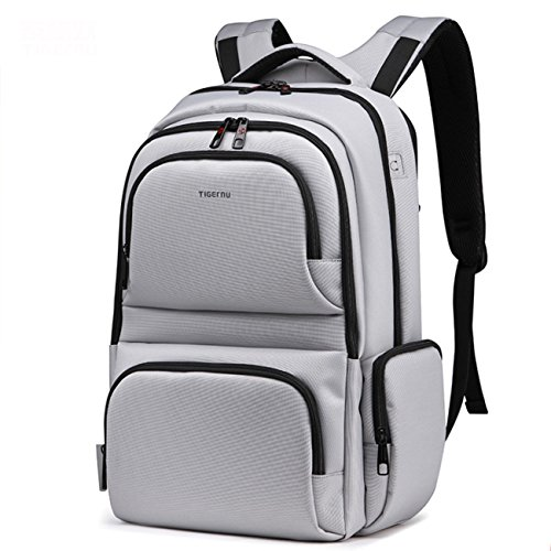 yacn-nylon-laptop-backpack-canvas-rucksack-travel-156inch-gray