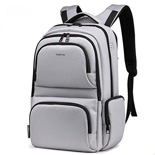 yacn-nylon-laptop-rucksack-leinwand-rucksack-reise-tasche-fur-432-cm-laptop-grau