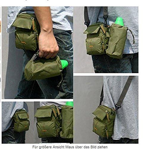 Bolsa Banana cinturón portátil - GreForest Bolsa de plátano bolsa de nylon verde para la escalada, jogging, Senderismo