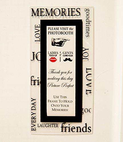 Photo Booth Rahmen und magnetische Foto Booth Rahmen, acryl, schwarz, 2x6