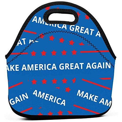 Lunch Bag Lunch-Einkaufstasche America Great Again Insulated Cooler Wiederverwendbare Thermotasche - Lunchbox Tragbare Handtasche Für Männer, Frauen, Kinder, Jungen, Mädchen