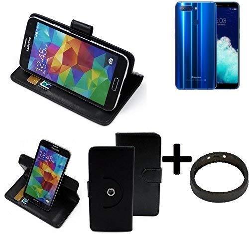 K-S-Trade® Case Schutz Hülle Für -Hisense Infinity H11 Pro- + Bumper Handyhülle Flipcase Smartphone Cover Handy Schutz Tasche Walletcase Schwarz (1x)