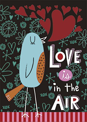 Love Birds Garden Flag (Morigins Love in The Air Valentine 's Day Doppelseitig Garten Flagge 31,8 x 45,7 cm Small-12.5