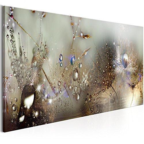 murando 120x40 cm - 1 Pezzo Stampa su Tela in TNT XXL Immagini Moderni Murale Fotografia Grafica Decorazione da Parete Fiori Natura Grigio Soffione b-C-0169-b-c