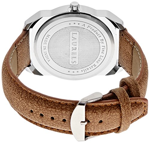 Laurels Invictus 2 Day & Date Analog White Dial Men's Watch (Lo-Inc-201)