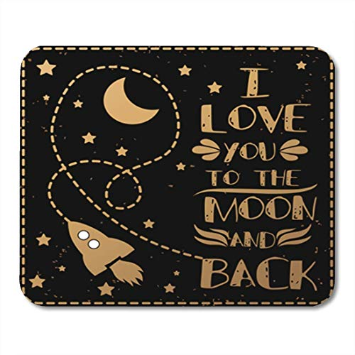 Gaming Mauspads, Gaming Mouse Pad Valentine's Day I Love You to The Moon and Back Romantic Quote for Save Date 11.8