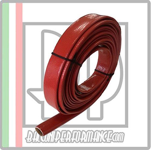 Guaina protezione tubi vano motore Auto. Resistenza calore raggi UV olio benzina, Colore ROSSO, diametro disponibile da 1 mm a 25 mm, venduto al metro (ID 6 mm)