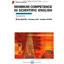 Minimum competence in scientific english (en anglais)