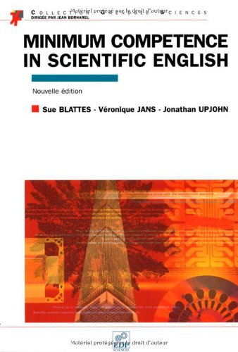 Minimum competence in scientific english (en anglais) par Sue Blattes