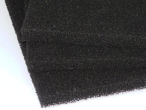 SONDERPREIS Aktivkohle 0,5 m x 0,9 m x 20 mm PPI 20 mittel Schwamm Schaumstoff Filter Luftanwendungen Abluft Filtermatte Filterschaumstoff Universal Kohlefilter Aktivkohle für viele Anwendungen Gastronomie Küche Dunstabzugshaube Kabine Rauch Geruchsfilter Wohnwagen Wohnmobil WC Bad Küche Filter schwarz zum Sonderpreis - Auslaufmodell