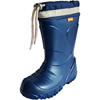 Demar Kids Boys Girls EVA Wellies Rain Boots Warm Fleece-Lined Light Unisex Children Wellington Boots