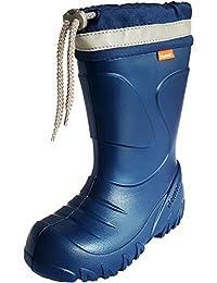 Demar Kids Boys Girls EVA Wellies Rain Boots Warm Fleece-Lined Light Unisex Children Wellington Boots