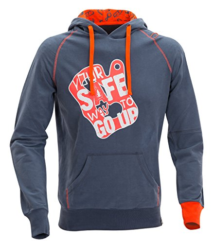 Climbing Technology Runout Hoody Sweat Coton Homme, Homme, Runout Hoody, Gris