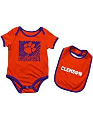 "Clemson Tigers NCAA Infant ""Look at the Baby"" Onesie w/Bib Set"