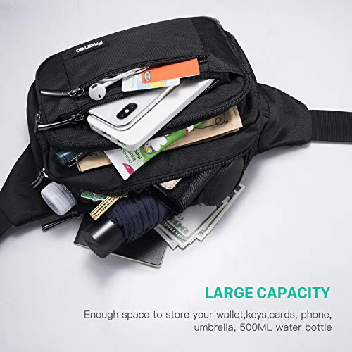 51OaaVOxtCL. SS500  - FREETOO Large Bum Bag 32.7 to 45.3 Inch Size Waist Travel Pouch Fanny Pack with 6 Zipped Pockets Ideal For Hiking Travel Holidays Festivals