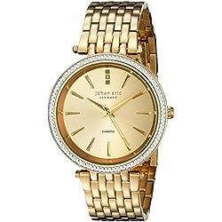 Johan Eric Women's JE-F1000-02-002B Fredericia Analog Display Quartz Gold Watch