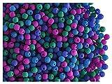 4gr (about 300 stk) Tschechische glasperlen gepresst ESTRELA NEON (UV aktiv) rund 2mm Dark Neon Mix