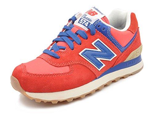 Nuovo Equilibrio Ml574 Vrb Sneaker Da Uomo (rosso / Blu / Bianco) Rosso