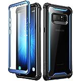 Samsung Galaxy Note 8 Hülle, i-Blason [Ares Serie] Ganzkörper Schutzhülle Stoßfest Handycover Rückseite Transparent Hülle mit eingebautem Displayschutz für Samsung Galaxy Note 8 (2017 Ausgabe) (Blau)
