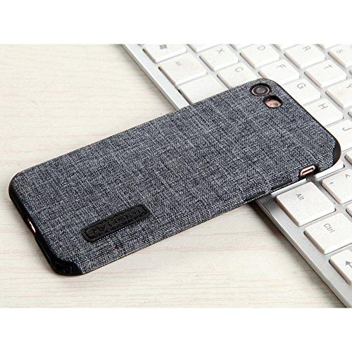 """MOONCASE iPhone 7/iPhone 8 Hülle, Weich TPU Kratzfest Stoßfest Schutztasche [Fabric Pattern] Schroff Rüstung Handysocken Case für iPhone 7/iPhone 8 4.7"""" Khaki-2 Grey-2"""