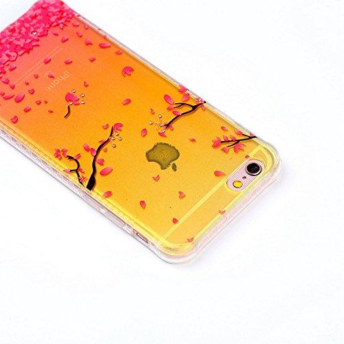 ZeWoo TPU Coque - - pour Apple iPhone 6 Plus (5,5 pouces) Silicone Étui Housse Protecteur--YT01 papillon coloré YT04