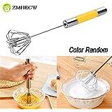 Pinkdose® China, Random: Zmhegw Stainless Steel Semi-Automatic Whisk Mixer Balloon Egg Milk Beater Cooking Tool Hand Rotating Semi-Automatic Mixer 011