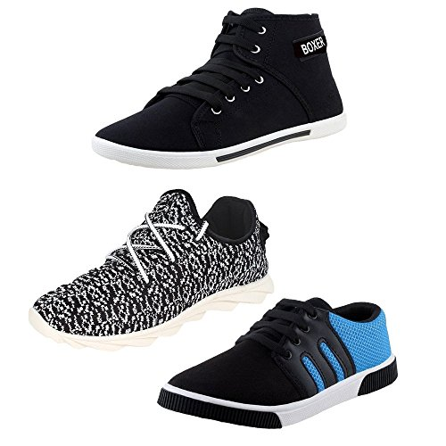 Chevit Men's Tri Pack of 3 Casual Shoes (Sneakers)