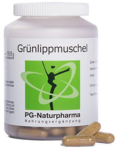 Grünlippenmuschel Kapseln – 120 Kapseln mit je 400mg Grünlippmuschelpulver – hochdosiert – ohne Magnesiumstearat & ohne Zusatzstoffe – Grünlippmuschel Kapseln (auch für den Hund) – aus Deutschland