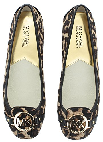 Michael Michael Kors Fulton Moc Cuir Chaussure Plate Natural