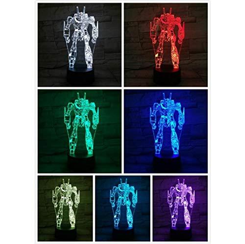 Capteur tactile de bande dessinée de nuit à LED 7 couleurs changeantes enfant enfants Autobot lampe de bureau chevet Comics
