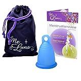 Me Luna Menstruationstasse Classic, Ring, Blau, Größe L