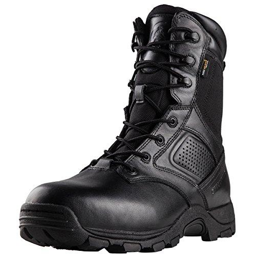 Free Soldier Outdoor Herren 22,9 cm Wasserdicht Stahlkappe Schuhe Desert Tactical Duty Work Stiefel 42 Schwarz (Stoff Desert Camo)