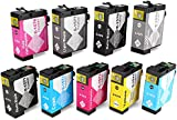 OfficeWorld Compatible Ink Cartridges Replacement for Epson T1571 T1572 T1573 T1574 T1575 T1576 T1577 T1578 T1579 Compatible for Epson Stylus Photo R3000