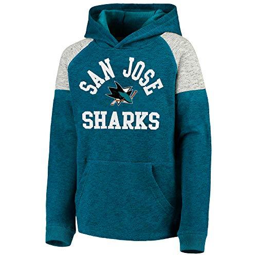 Outerstuff NHL Youth 8-20 Team Color Hat Trick Pullover Fleece Hoodie, Jungen, San Jose Sharks, X-Large 18/20 US Blackhawk Pullover Hoodie