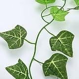 OPUSS heiße Produkte. Künstliche grüne Blätter Girlande mit Efeu-foliage Hochzeits-Dekoration, Normal, 1 Stpck