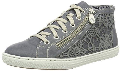 Rieker Damen L0912 High-Top, Blau (Jeans/Denim/14), 40 EU (Blau High Top Schuhe Für Frauen)