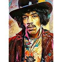 """Aluminium metal wall art """"Jimi Hendrix"""""""