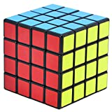 TOYESS Cubo Magico 4x4x4 High Speed Cube Colorato Sticker Cube Regalo per i Bambini e Adulto (Nero)