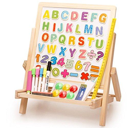 Lewo de madera plegable doble cara alfabeto...