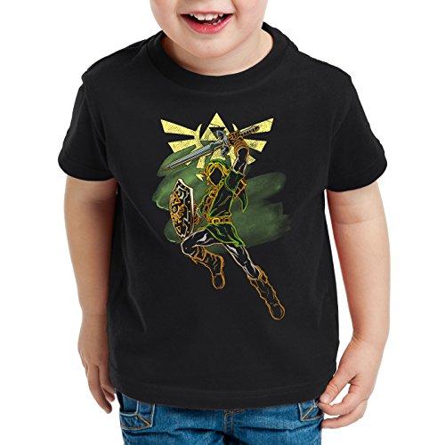 style3 Adventure Link Kinder T-Shirt Game Gamer, Größe:128