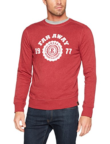 camel active Herren Sweatshirt Rot (Dark Red Den 44)