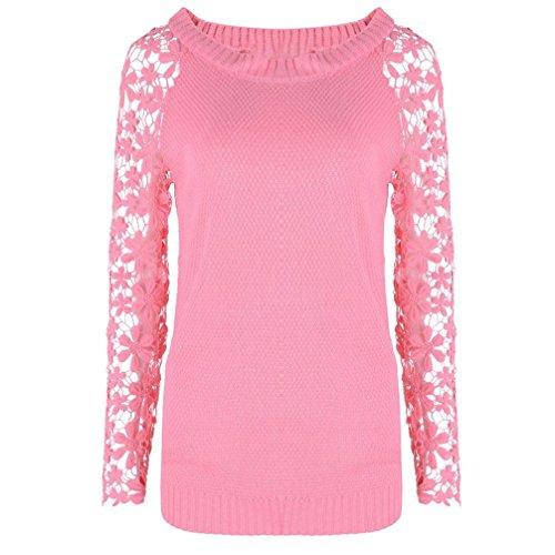Moda Maglioni , Reasoncool Maniche lunghe Donne maglione della parte superiore del pullover allentato Jumper Maglieria Soprabiti (M-Busto:35.43