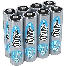 ANSMANN wiederaufladbare Akku Batterien Mignon AA 1 2V/2100mAh NiMH - Akkubatterie mit maxE Technologie für Geräte mit hohem Stromverbrauch/Ideal für Fernbedienung Spielzeug uvm. 8 Stück