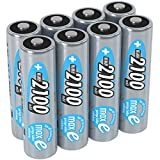 ANSMANN wiederaufladbare Akku Batterien Mignon AA 1 2V / 2100mAh NiMH - Akkubatterie mit maxE Technologie für Geräte mit hohem Stromverbrauch/Ideal für Fernbedienung Spielzeug uvm. 8 Stück