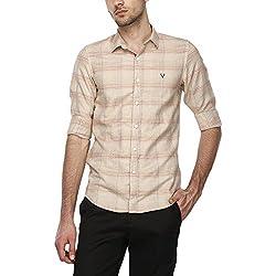 Allen Solly Mens Regular Fit Casual Shirt (AMSF318G001414_Khakhi_39)