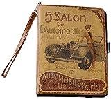 Hidalgo Vintage - Funda para Apple iPad mini, curpiel, diseño Salon Automobile
